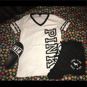 top & shorts